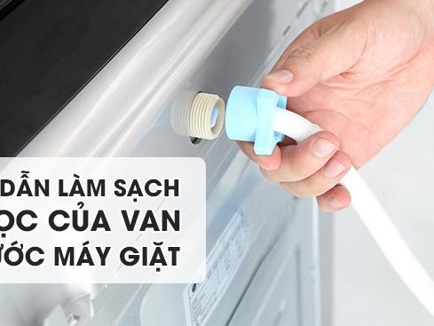 van cấp nước máy giặt hỏng